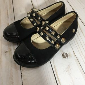 Naturino Mary Jane Black Suede Shoes Size 24